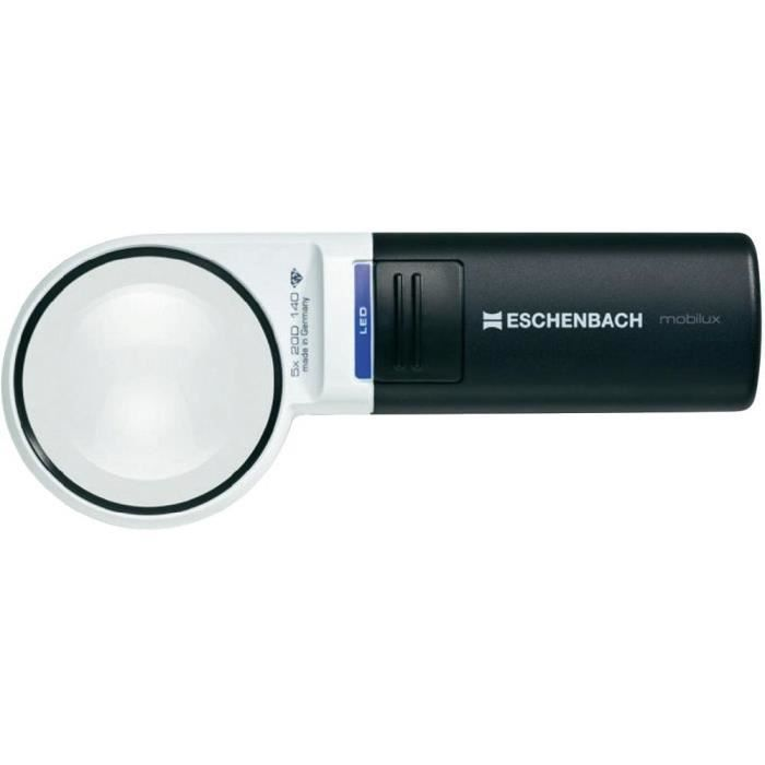Loupe éclairante LED 58mm 5,0x Eschenbach Moxilux