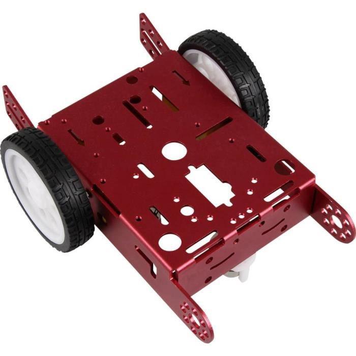 ROBOT MINIATURE - PERSONNAGE MINIATURE - ANIMAL ANIME MINIATURE - Joy-it Châssis roulant pour robot kit à monter robot04
