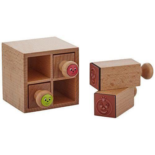 Maildor 7421O - USTENSILES DE DECORATION - Appreciation Boîte avec 4 tampons encreurs en bois Multicolore