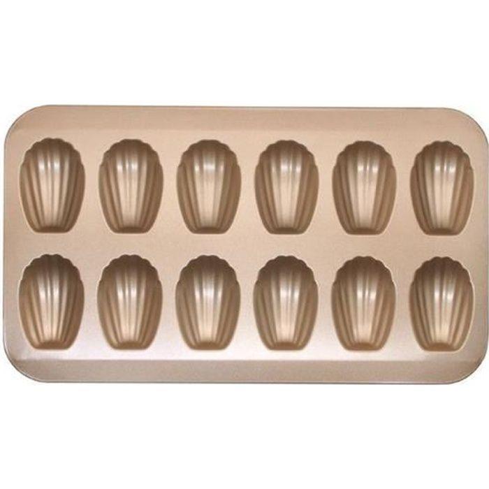 12 tasses moule à madeleine antiadhésif moule en acier au carbone en forme de coquille outils cuisson