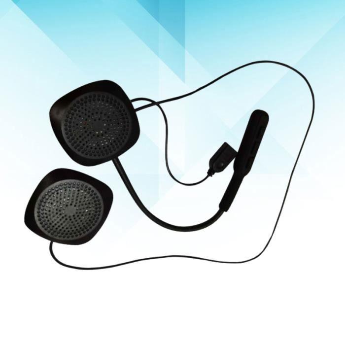 Casque Sans Fil Avec Microphone Musique Stéréo Pour Moto (Noir) intercom - kit communication confort conducteur passager