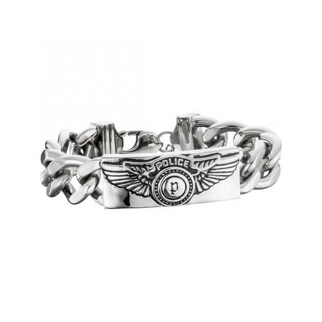 Bracelet - Gourmette - Jonc - Police - Bracelet Homme Police S14AIC07B (21 cm)