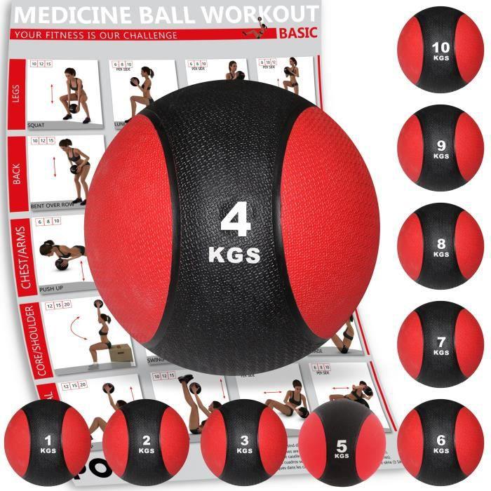 Médecine Ball de 1 kg à 10 kg (4 kg)