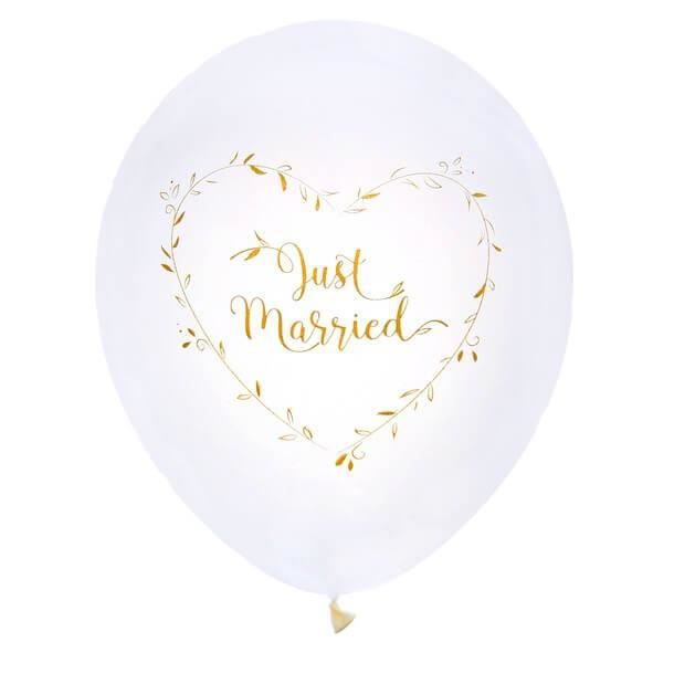 Ballon mariage or Just Married en latex (x8) REF/6261