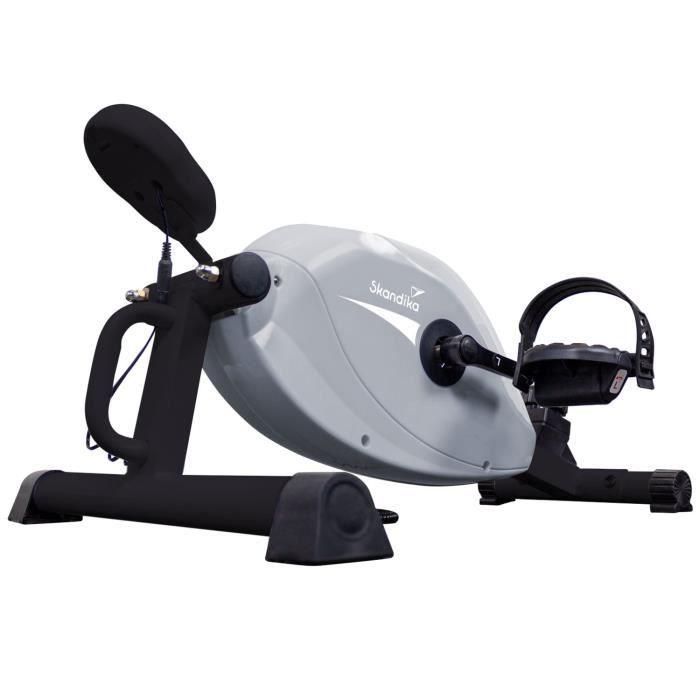 Skandika Liten - Vélo D'appartement - Mini Vélo - Console - Frein Magnétique Robuste - 8 Niveaux De Résistance - Gris