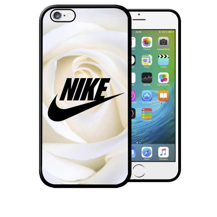 coque iphone 6 6s nike motif roses blanches swag e