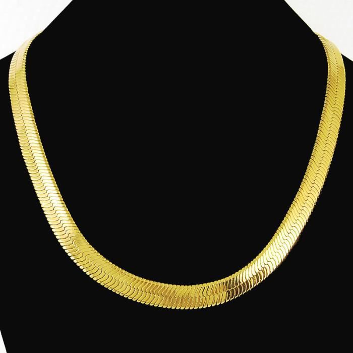 collier or plat