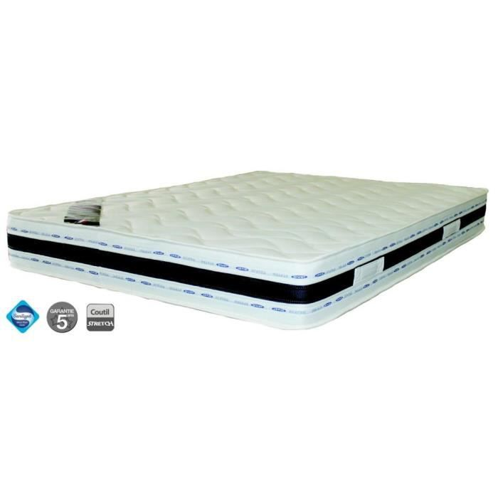 matelas luxe 140 x 190 x 22 cm grand confort achat vente matelas cdiscount. Black Bedroom Furniture Sets. Home Design Ideas