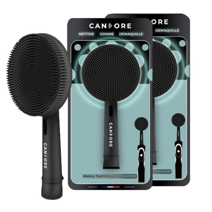 BROSSE A DENTS CANDORE® Black Edition 2 Brossettes Compatibles Or
