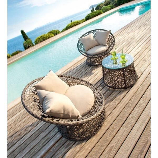 salon detente en duo platillo couleur naturel achat vente salon de jardin salon detente. Black Bedroom Furniture Sets. Home Design Ideas