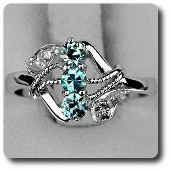 bague zircon bleu diamant arge argent achat vente bague anneau bague zircon bleu. Black Bedroom Furniture Sets. Home Design Ideas