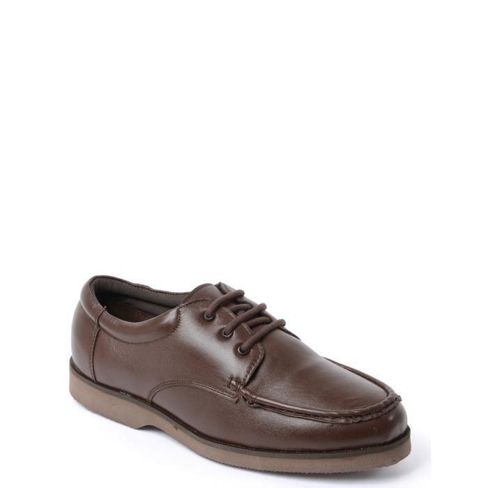Chaussures Pointure Large A Lacets Pour Homme Marron Achat Vente Mocassin Cdiscount