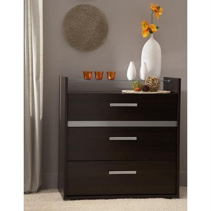 nina commode 3 tiroirs weng achat vente commode de chambre nina commode 3 tiroirs panneaux. Black Bedroom Furniture Sets. Home Design Ideas