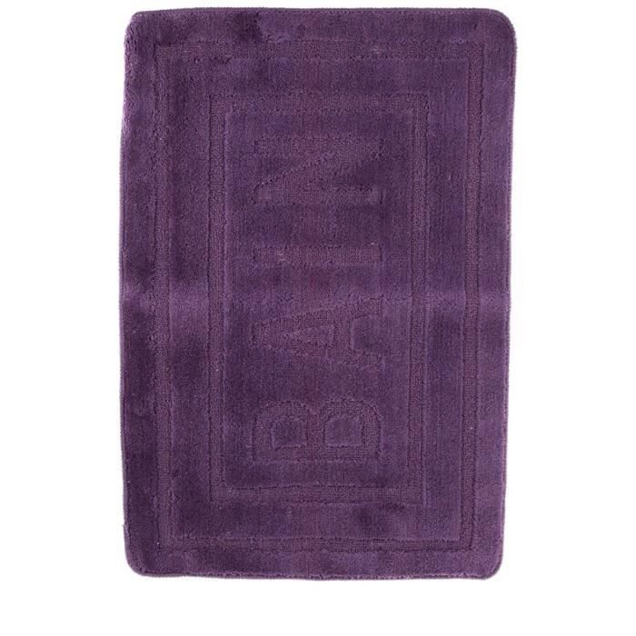 tapis de salle de bain violet achat vente tapis de. Black Bedroom Furniture Sets. Home Design Ideas