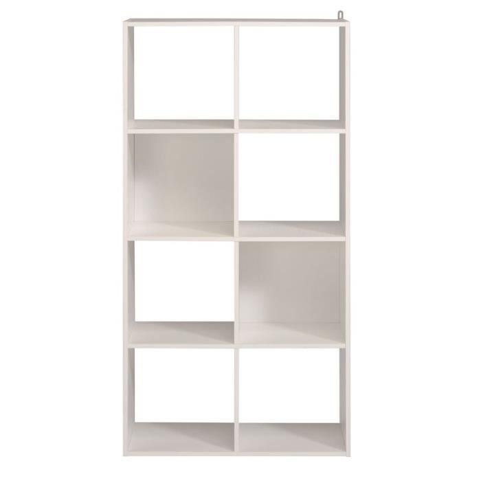 Etagere Cube 8 Cases Blanc Felix N 1 L 61 X L 29 X H 121 Achat Vente Casier Pour Meuble Etagere Cube 8 Cases Blanc Cdiscount