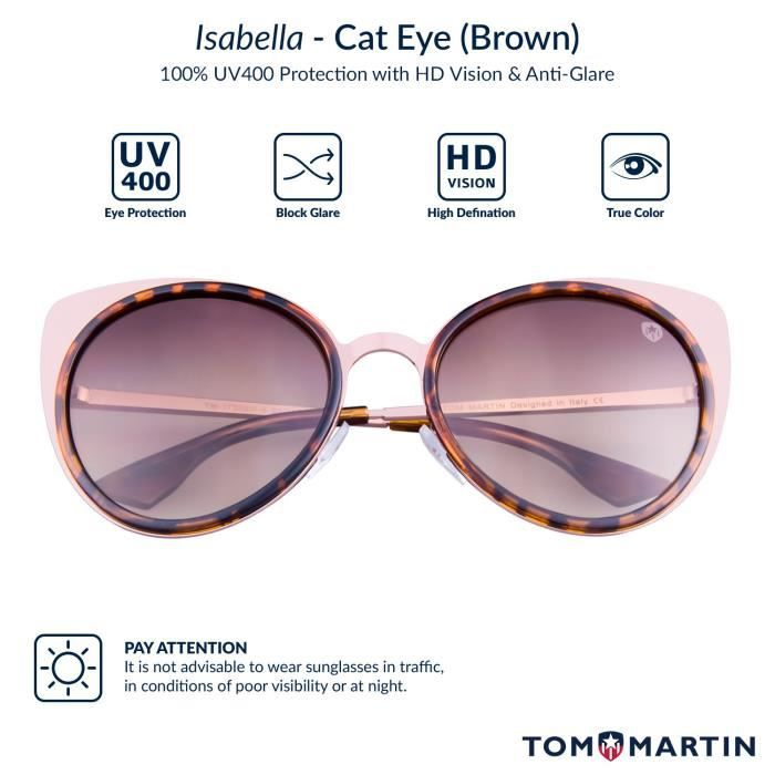Uv-400 Protected Sunglasses -isabella- Cat Eye- Shiny Gold - Tortoise (women- Brown) C1KGG