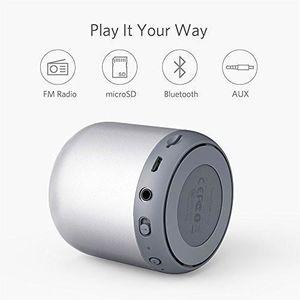 ENCEINTE NOMADE Mini Enceinte Bluetooth argentée Autonomie de 15 H