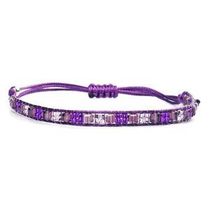 BRACELET - GOURMETTE Bracelets de perles de riz tissé à la main pour fe