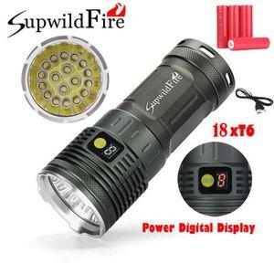 LAMPE DE POCHE Supwildfire 18 x XM-L T6 LED Puissance Affichage N
