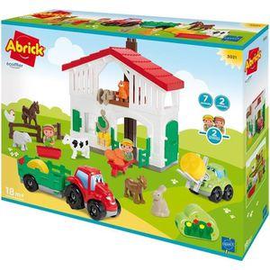 ASSEMBLAGE CONSTRUCTION Jouets Ecoiffier -3021 - La ferme Abrick - Jeu de