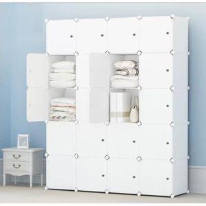 ARMOIRE DE CHAMBRE 20-Cube Armoire de Chambre Penderie Modulable Meub