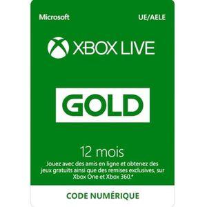 ABONNEMENT Abonnement Xbox Live 12 mois à télécharger