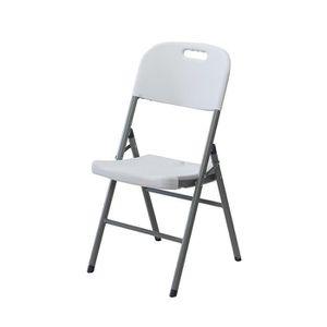 FAUTEUIL JARDIN  Chaise pliante confort en résine ultra solide