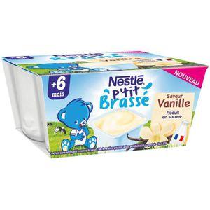 DESSERT LACTÉ NESTLE P'tit Brassé Vanille 4x100g
