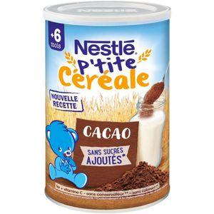 CÉRÉALES BÉBÉ NESTLÉ P'tite Céréale Cacao - 400 g - Dès 6 mois