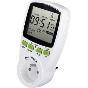 220V LCD Programmateur Horaire Minuterie Numérique Prise Électrique Schuko