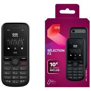 Téléphone portable Téléphone double sim Sélection F2 avec une carte s