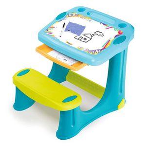 TABLEAU ENFANT SMOBY - Pupitre Magique créatif Bleu - 3 Rangement