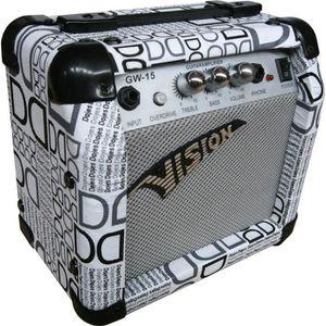 AMPLIFICATEUR AMPLI Guitare électrique design blanc et noir 15 W