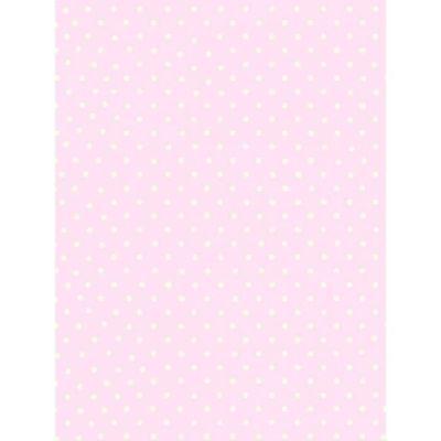 À pois Papier Peint - Rose et blanc - 6321
