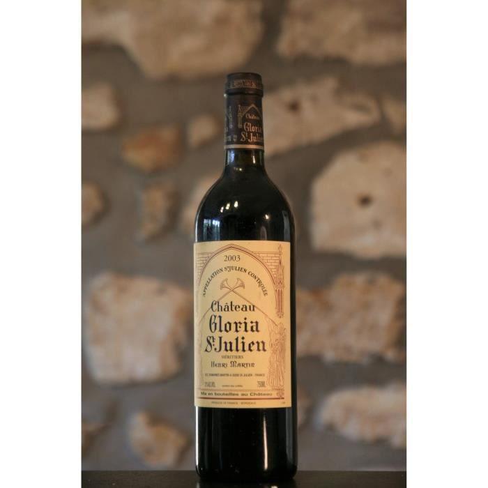 Vin rouge, St Julien, Château Gloria 2003 Rouge