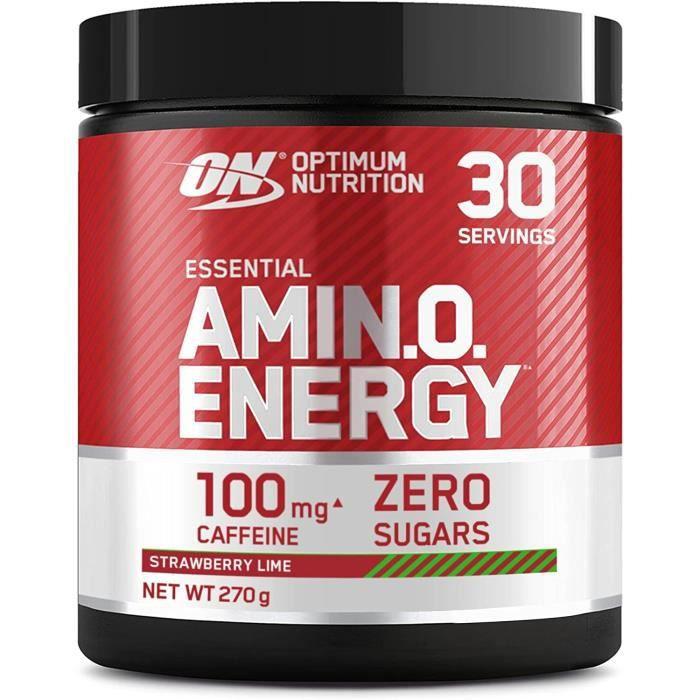 Amino Energy- Pre workout en Poudre- Energy Drink avec Bêta-Alanine- Vitamine C- Caféine et Acides Aminés- Saveur Fra Citron V[529]