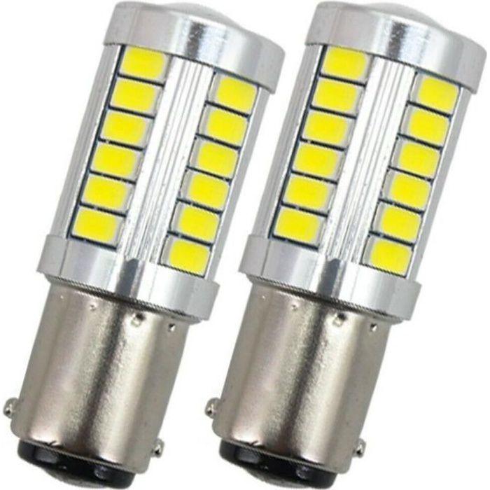 Ampoule BA15S LED P21W SMD Blanc 6000K Veilleuses Feux de jour Voiture