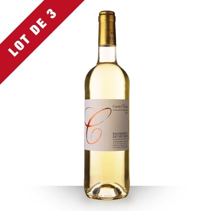 3X Domaine du Crampilh Cuvée l'Estela 2013 Blanc 75cl AOC Pacherenc du Vic-Bilh - Vin Blanc
