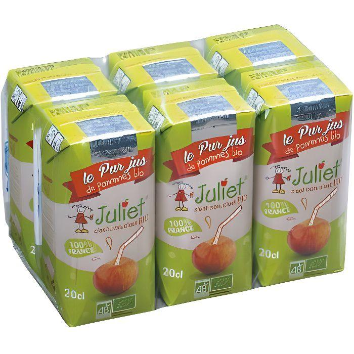 Les briques de jus de pommes tetra sont idéales pour le goûter, pratiques à emporter partout.Tetra jus de pommes 20cl pack de 6