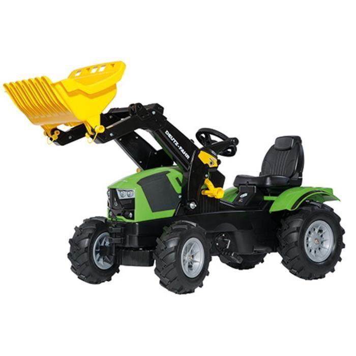 Voiture miniatures Rolly Toys 611 218 RollyFarmtrac Deutz-Fahr 5120 tracteur avec chargeur et pneus