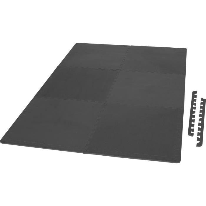 6 tapis de protection en mousse - épaisseur 1,2cm - 12 pièces d'about - Noir