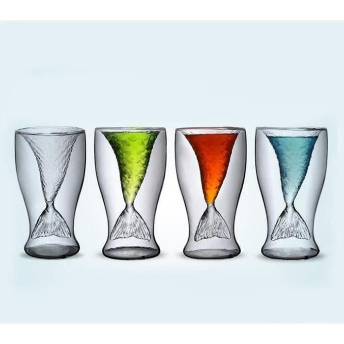 HT Sirène Thème 100mL Vodka Tir vin Whisky Beer Glass Bar Timbale Decanter - HTTNS903A9948