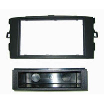 Adaptateur de façade d'autoradio simple DIN Noir Toyota Auris 2007 >