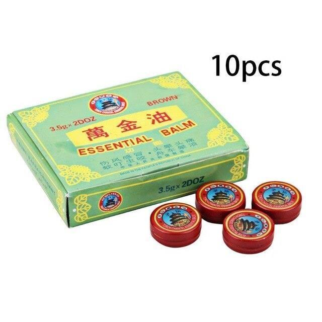 L1077 10 pièces-ensemble multifonction été refroidissement huile rafraîchissante tête baume expulsant moustiques crème pommade