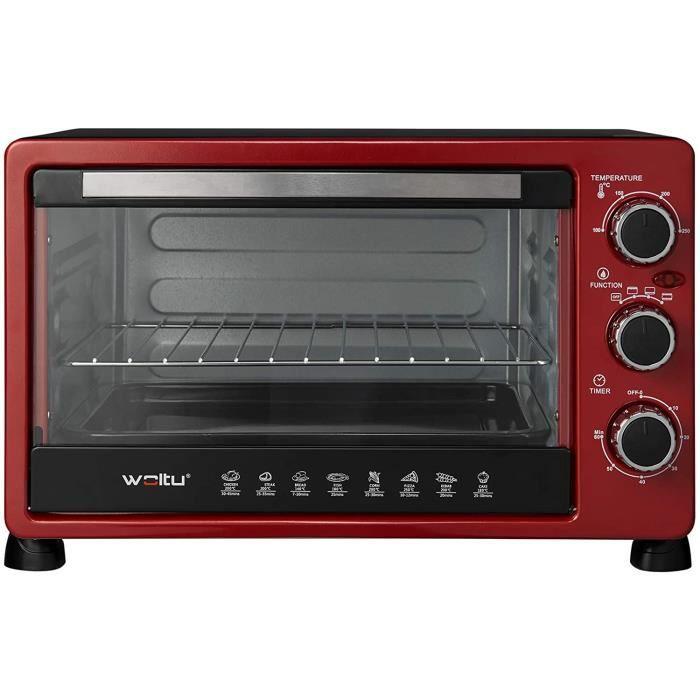MINI FOUR WOLTU Mini Four 25 litres, Mini Four &agrave Pizza &agrave Pain grill&eacute Mini Four avec minuterie 100-250 ℃ 15006