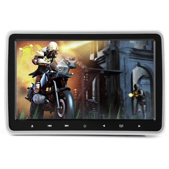 ARAMOX lecteur DVD d'appui-tête 10.1in TFT HD Appui-tête de voiture Lecteur DVD Moniteur d'oreiller numérique portable Clip-on