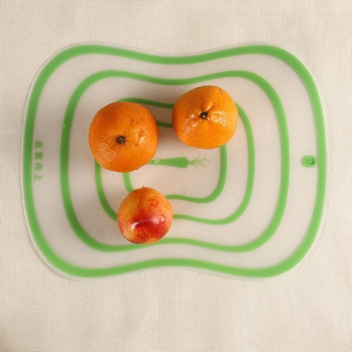 Planche à découper,1pc cuisine planche à découper antidérapant givré planche à découper 30*20 CM légume fruits viande - Type green