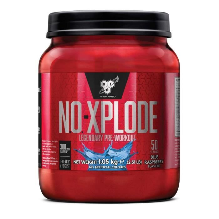 BSN No Xplode 1kg Blue Raspberry - (1050g)