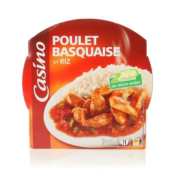 Poulet basquaise + riz - 300 g