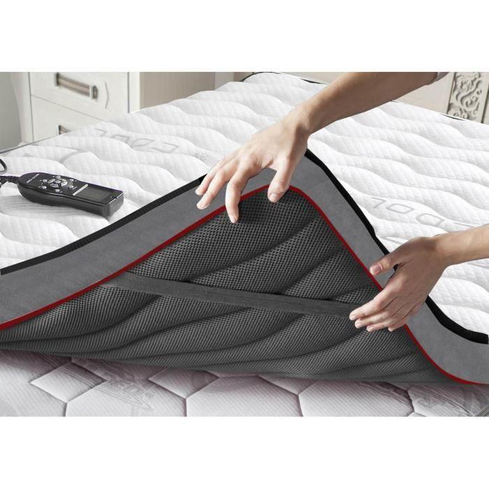 Topper-Surmatelas avec massage pour un sommeil agréable- dim : 90x190 cm